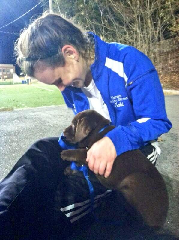 Gabi Dugal (@Yoo_GabaGaba): Shouts to Batch for making my night and bringing Juan Pablo to practice!! #PuppyLove