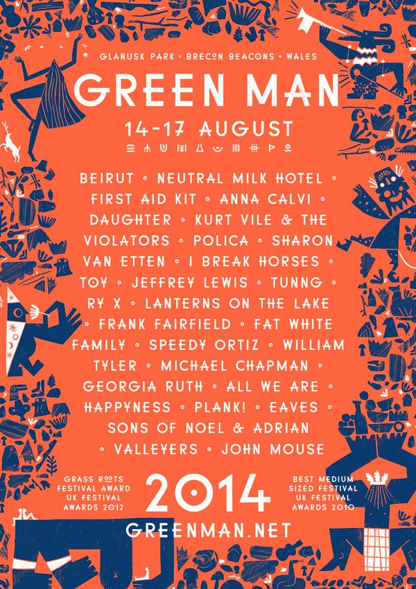 Drum roll please... our first announcement in full! #GreenMan14 http://t.co/hcXl64z75Q