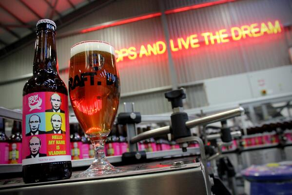 Hey Putin! Suck on this. Hello, My Name is Vladimir - this beer is #NotForGays   http://t.co/ka1gY0AE7m http://t.co/U9tLkgjRFJ