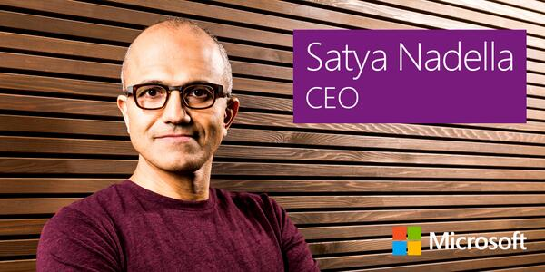Introducing our new CEO, Satya Nadella:  http://t.co/u5IGl1N78G http://t.co/akgNY5euEJ