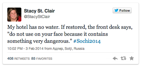 The coverage of Sochi itself will be better than the actual Olympics. http://t.co/pKZiY6VJbP http://t.co/kgX79psy4L