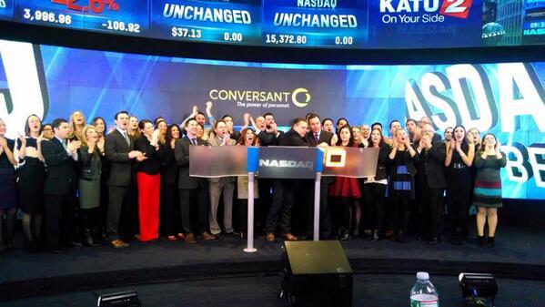 .@Conversant rings the #Nasdaq Opening Bell! #dreamBIG $VCLK http://t.co/j0HldOESOx