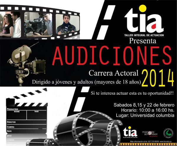 Queres ser actor? No te podes quedar fuera de las audiciones! http://t.co/FmqR00JxCG