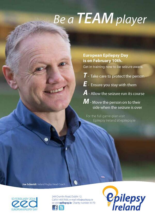 Asking again for a RT for this - @irfurugby coach Joe Schmidt asking you to be aware of @epilepsyireland http://t.co/ieZVTOoM5b