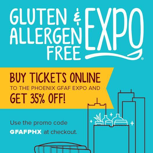 Hey #Phoenix #Glutenfree Friends! Receive 35% off Phoenix GFAF Expo tickets with code GFAFPHX. http://t.co/3JIwKDbDNl http://t.co/jydhVPjacn