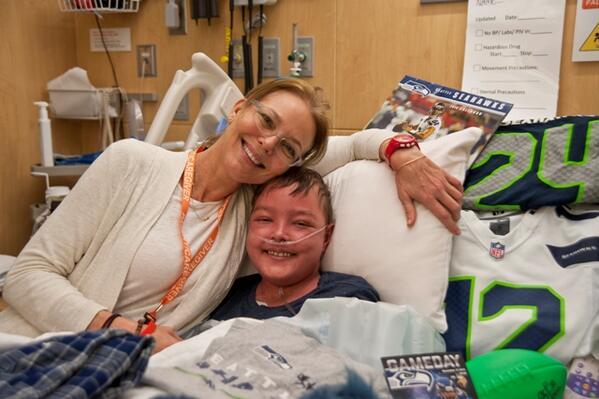 Congratulations @Seahawks & @DangeRussWilson! From all your fans @ Seattle Children's #GoHawks http://t.co/L927i43SWT http://t.co/B2hJabPNCm