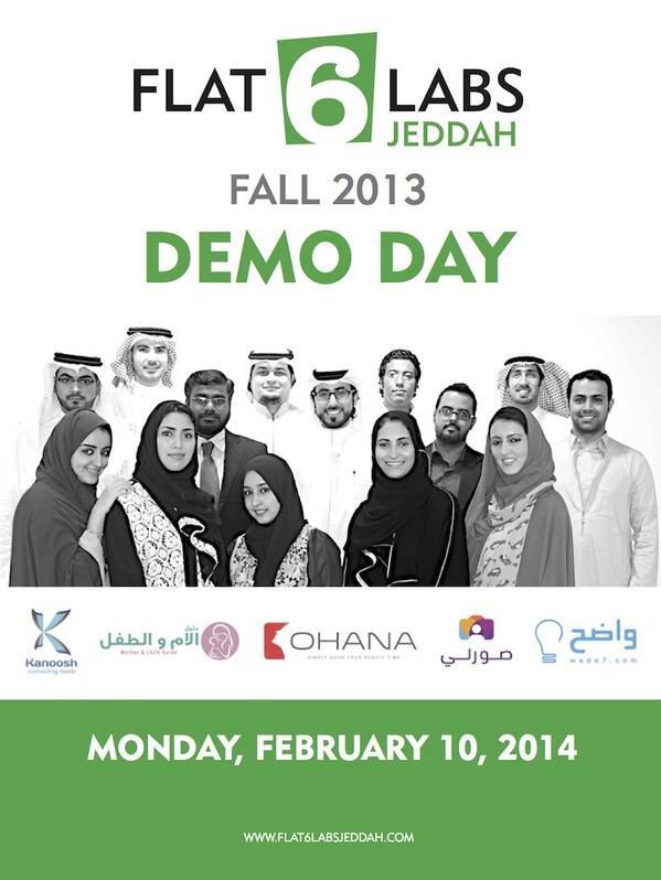 A dream coming true.. time to show some kickass Saudi Startups! 6 days till @Flat6LabsJeddah 1st Demo Day :) http://t.co/eKkQRTAnGk