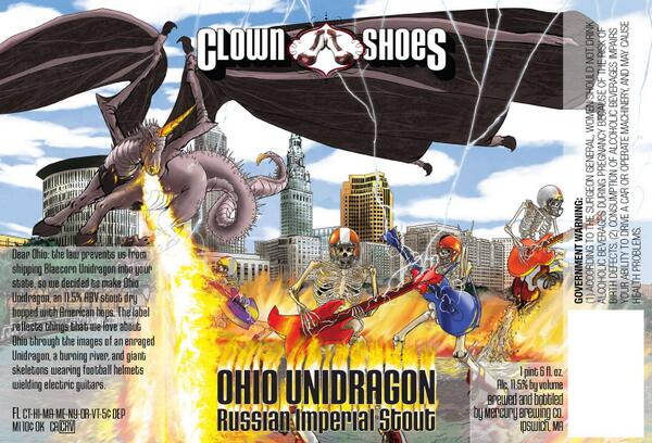 Because of ABV laws in Ohio we haven't been able to send #BlaecornUnidragon, so we decided to create a new beast http://t.co/i5gLUma7Qb