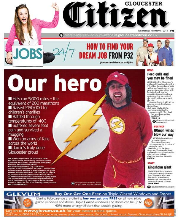 A special Citizen front page tomorrow for @MrJamieMcDonald http://t.co/yOTsKFHWZl
