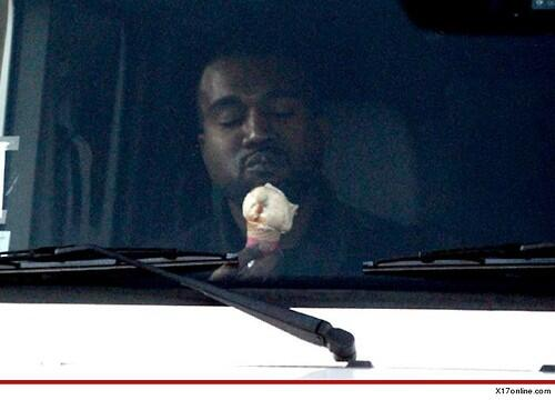 Just Kanye Eating Ice Cream http://t.co/mrWbyW5pCJ