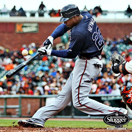 In honor of @JasonHeyward's 2-year deal w the @Braves, FOLLOWERS TO RETWEET are eligible to win his bat! #SluggerGuy http://t.co/RDPdG6LHuD