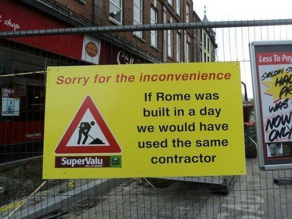 BRILLIANT! RT @adrian_king: Sorry for the inconvenience... http://t.co/OB7mBjl5B8