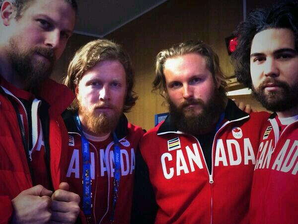 Bearded bobsledders representing Canadian culture #Sochi2014 http://t.co/x1Ai59AkAN
