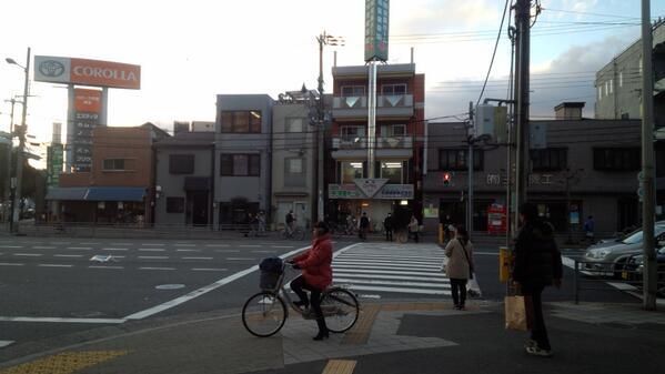 【拡散希望!】 【名村造船所までの道のり③】 しばらく行くとこんな交差点があります。(画像) この信号を渡って右へ! http://t.co/YXVbfVH8gV