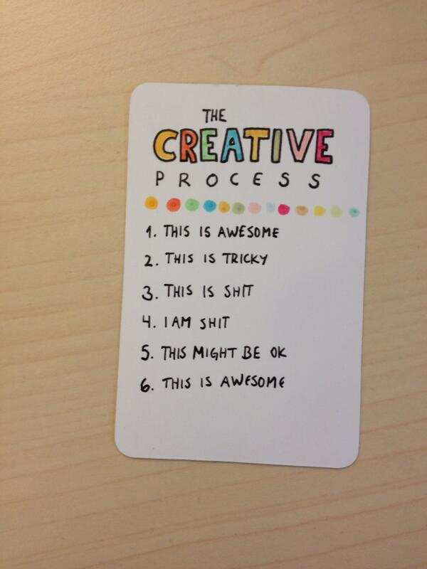 Here is wisdom. RT @stalbs Love this on 'the creative process' http://t.co/WSaMn8OfcJ