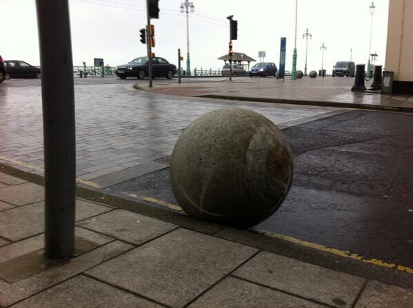 """""""@sbtxt: Concrete balls blown on the #Brighton front. #Wind http://t.co/43LcDOv4LC"""" WHAT THE HECK?!"""
