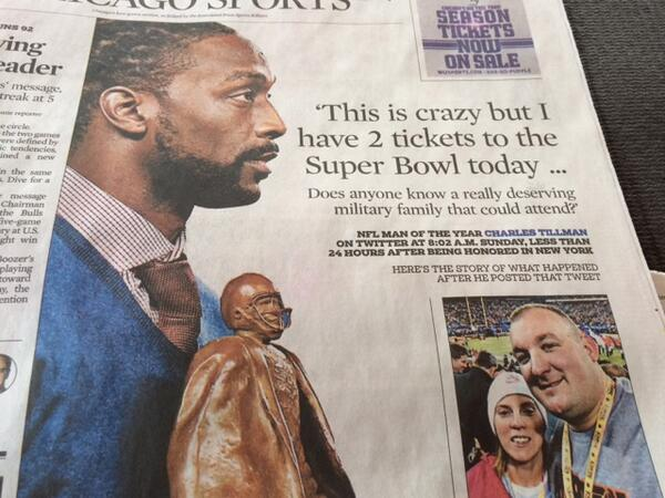 Congratulations @peanuttillman for being The Man! Proud that you are Chicago's own + hope you stay here. #rolemodel http://t.co/NbOkVxbWxe