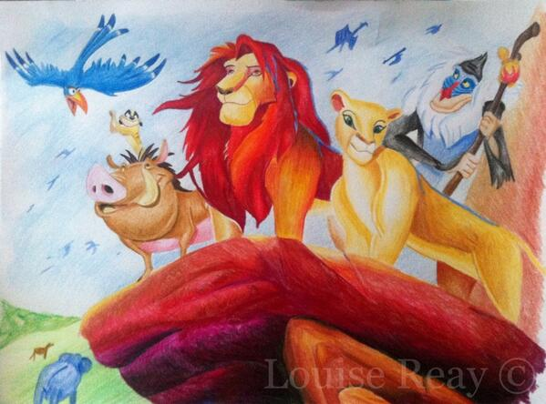 New sketch: The Lion King #disney http://t.co/zAVstGcxOK