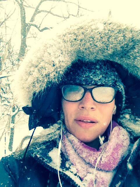 Nicole Karkic (@NicoleKarkic): I guess wearing my glasses outside was a bad idea.  #cantsee #onstorm #Toronto #winterwatch http://t.co/KZ0anb6szO