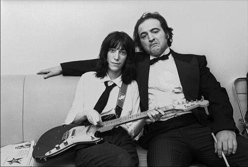 I like this, a lot, Patti Smith & John Belushi, 1976. http://t.co/o7flHYG92p