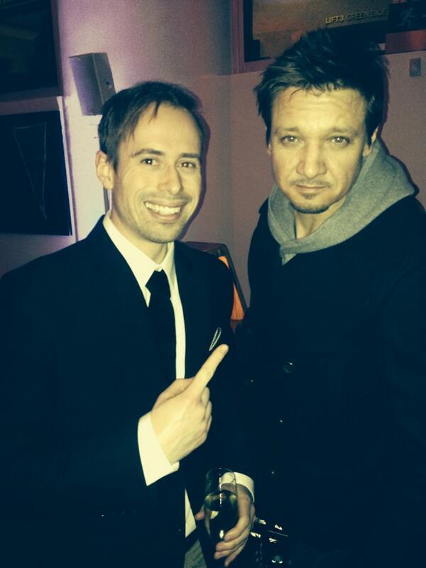 Well chuffed to meet Jeremy Renner tonight! Him, on me... Not so much http://t.co/oPQMOJU6bi