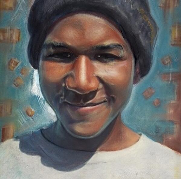 Today would have been Trayvon Martin's 19th birthday. May his memory live on. #NeverForget [Artwork: Rahiem Milton] http://t.co/B0yyNkcSwW