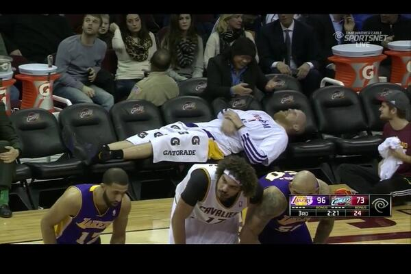 The @Lakers bench right now http://t.co/bMIwkcsgQj