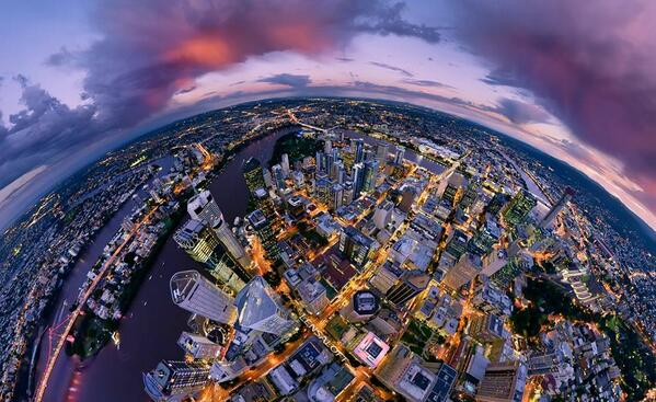 We love this aerial view of #Brisbane. RT if you do too! Picture by Lensaloft Photography. http://t.co/LONoi3mF8f