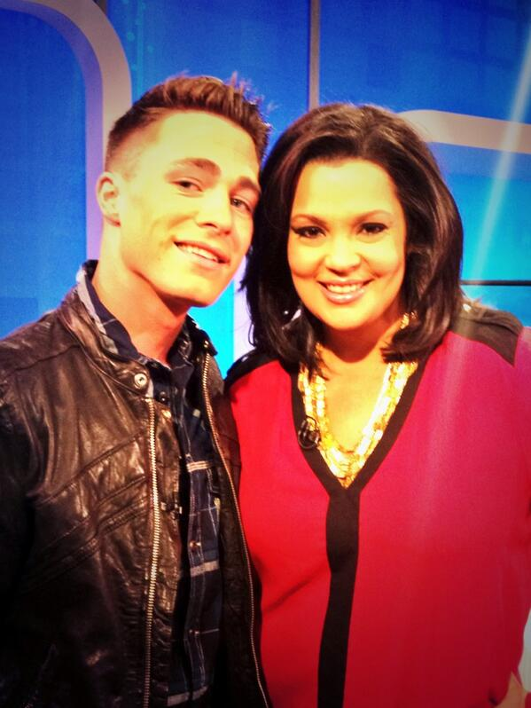 Loving #Arrow Star @ColtonLHaynes  So much fun having you on the show.  Enjoy NYC!  Get a coat!! http://t.co/vCMdSi8uhc