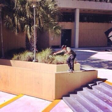 """#ThrowbackThursday to Miami 2011 Railslide bigspin at FIU college""#ONEFELIX #SkateLIFE #TBT photo: @mannyslaysall http://t.co/wZLUEiK6zW"