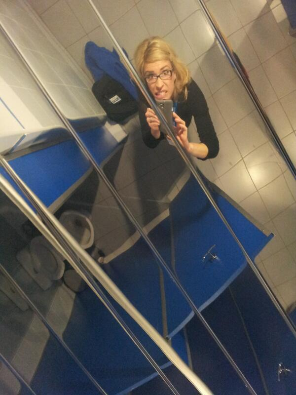 #Sochi2014 because who doesn't want to use a public restroom with completely mirrored ceilings? thanks shayba arena! http://t.co/dTcFWseIAu