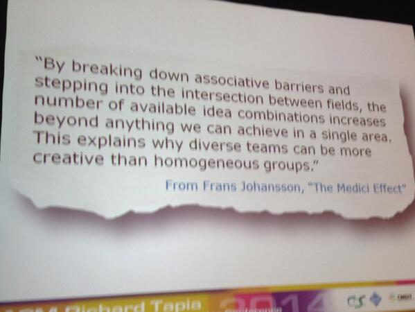 RT @mapq: Great quote shared by Chieko Asakawa #tapia2014 http://t.co/odex1P9FJj