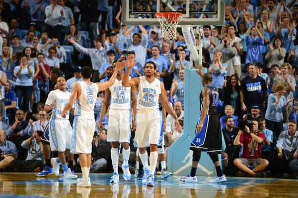 #UNC is the first team to beat the preseason 1, 2, 3 and 4 in the AP poll! #NCAAB http://t.co/WfQy1dTcQ5