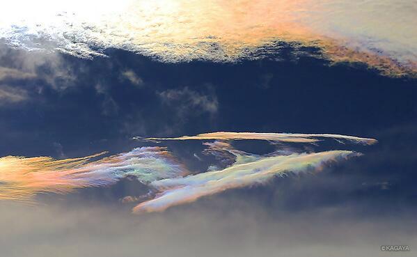 test ツイッターメディア - 富士山麓で撮影した彩雲です。この五色に色づいた雲は慶雲ともよばれ古来吉兆とされていますが、気をつけているとよく見かけます。 オーロラではないですが色つながりで https://t.co/KyIRb6r86j