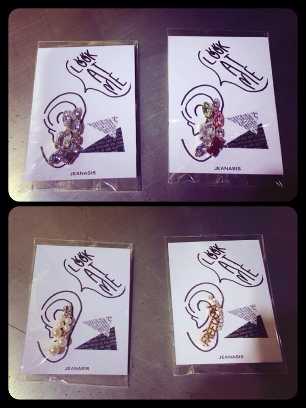 """【再入荷】 大人気イヤークリップ☆  """"@saacpi: お待たせしました〜♡イヤークリップが入荷致しました*\(^o^)/お値段は¥1,995です‼︎みなさまお早めに...‼︎‼︎(・ω・)ノ#JEANASIS http://t.co/8MJxO03Ot0"""""""