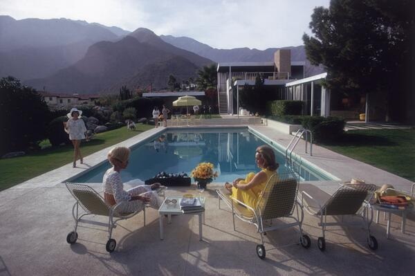 Poolside Gossip by Slim Aarons~ Slim Aarons always manages the essence of what I imagine myself doing. http://t.co/mMKoT7gAXI
