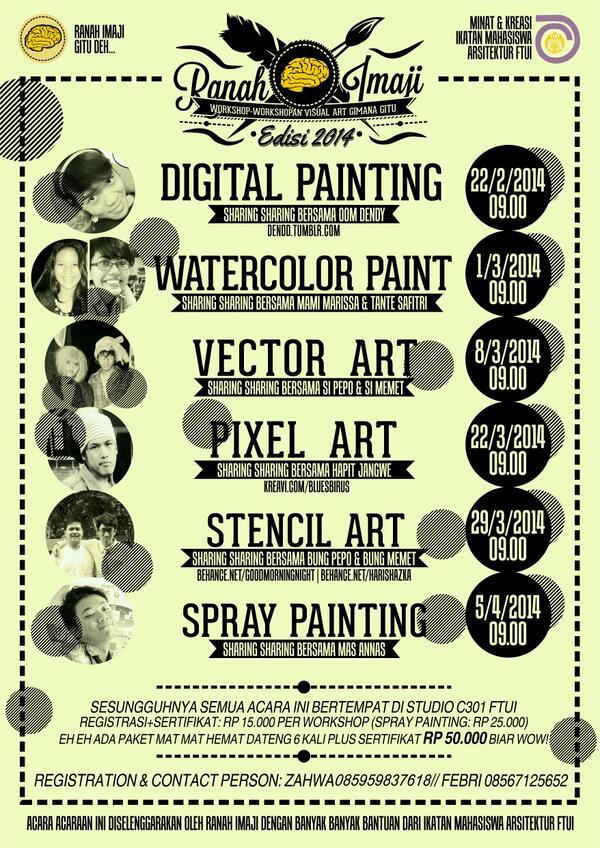 Qaqa qaqa mau ngingetin lagi nih workshop visual art ranji yuk ah didaftar cuus http://t.co/Axu6cEshkd