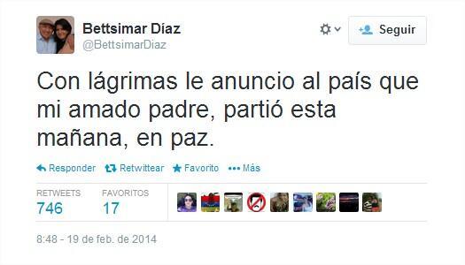 Murió Simón Díaz, informó su hija Bettsimar a través de su cuenta en Twitter http://t.co/FRrFOa5xdz http://t.co/TQ5G7yHLrW