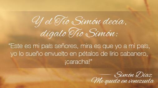 Nos unimos en un solo canto recordando al ídolo eterno, nuestro Tío Simón. Paz y fuerza a su familia. http://t.co/CDRqG69j0z