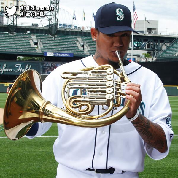 YES! #FelixHernandez is on the list! MT: @Mariners @seattlesymphony If your horn player is sick, you know who to call http://t.co/MAAUdOY5wN
