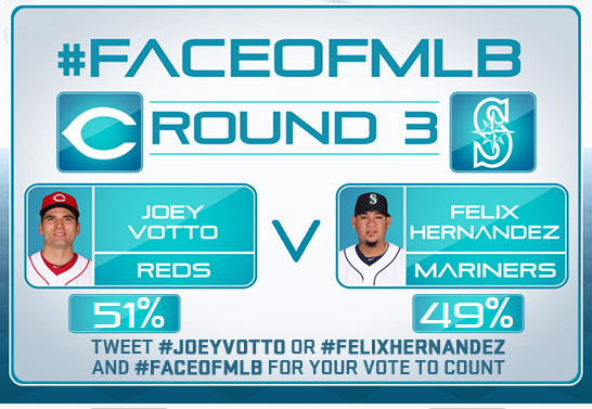 Reds Country...we can do better than 51%. RETWEET to make #JoeyVotto the #FaceOfMLB. It's the right thing to do. http://t.co/JsF7zaoIYX