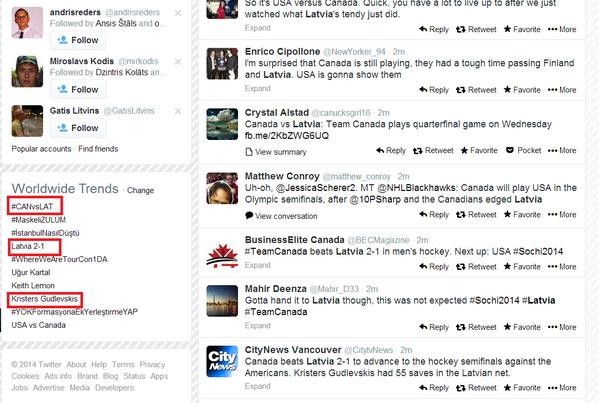 Trīs vienlaicīgus ar Latviju saistītus globālos Twitter trendus neatceros. #latvia http://t.co/nH33CfzVL6