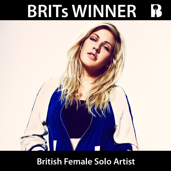 RT @BRITAwards: Congratulations @elliegoulding - the winner of British Female Solo Artist #BRITs2014 http://t.co/T64UE4Ers2