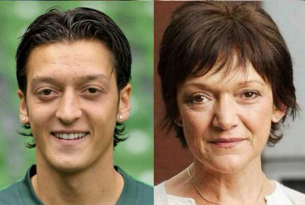 Ozil from Eastenders I knew ive seen him somewhere before #AFCvBAY http://t.co/BgTsnmEafQ