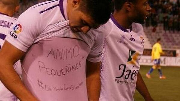 Multa de 2000 € para Jona, del Jaén, por este acto http://t.co/JelhubTvcx Apoyaba la lucha contra el #cáncer infantil http://t.co/i5yq1klckp