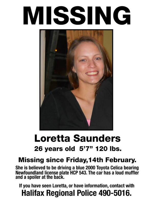 Loretta Saunders' family asking ppl to share this poster. @KSundahlCTV will have the latest in 10 miin @CTVAtlantic http://t.co/G0dS2V1ii2