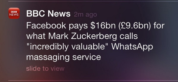 Facebook pays more for a massage than anyone in history, according to the BBC. #watchThoseTypos http://t.co/dlOXImBGKX
