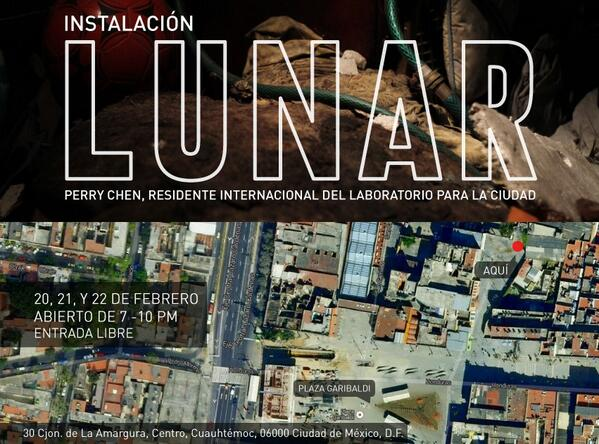 if you're in mexico city thur-sat, pls come visit my installation LUNAR http://t.co/QjJn1sArdq