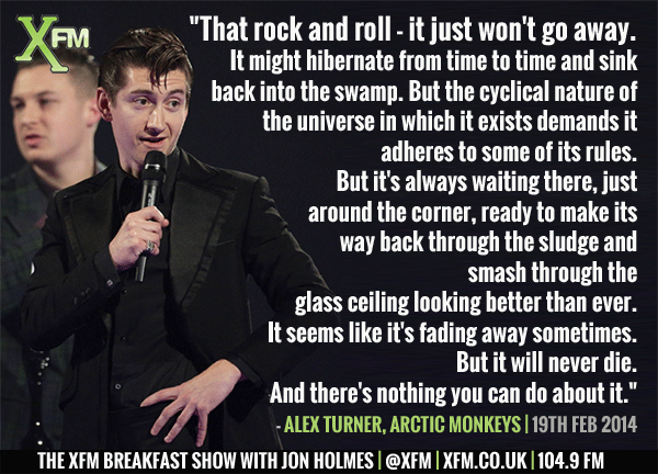 Thank the lord for Alex Turner. @ArcticMonkeys @xfm #BRITs2014 http://t.co/Mc50jari1Z