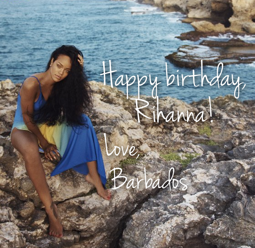 Happy birthday, @Rihanna! Your home island is SO proud of you and all you've accomplished. http://t.co/gaVBA3rDub